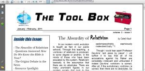 The Tool Box, January/February 2011