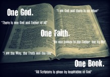 One God. One Faith. One Book.